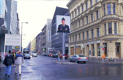 The former Checkpoint Charlie - American side