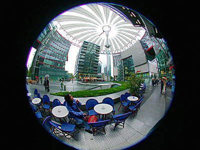 Fish-eye view of the Sony Centre