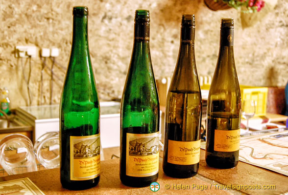 The four Dr. Pauly Bergweiler wines we tasted