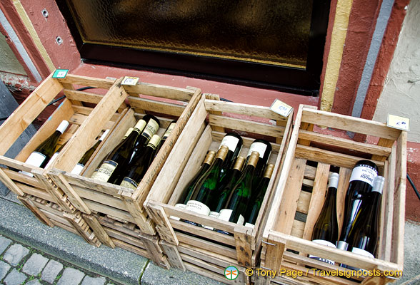 Crates of the Bernkastel wines