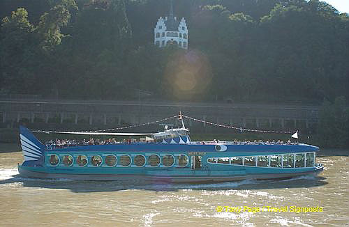 One of the many pleasure boats plying the Rhine