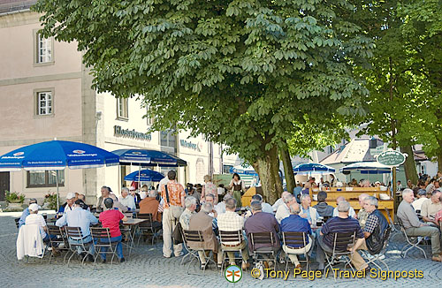 The Beer garden of Weltenburger Klosterbrauerei