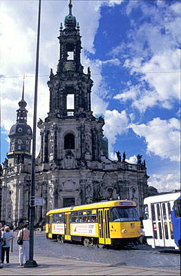 Tower of Hofkirche - Baroque royal church