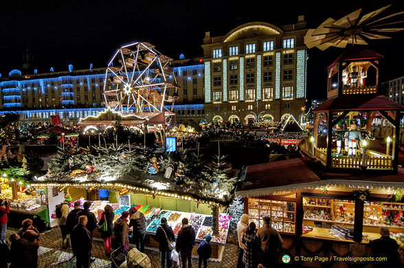 View of the Altmarkt Christmas Market