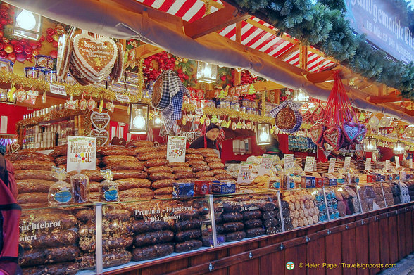 Stall selling fruit loaves, lebkuchen and other treats