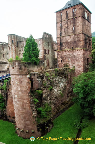 Heidelberg Castle Powder Tower - split by an explosion by Louis XIV's troops