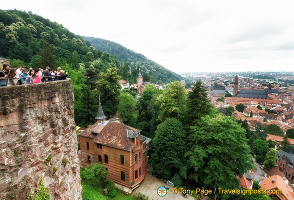 View of Heidelberg from the Castle terrace