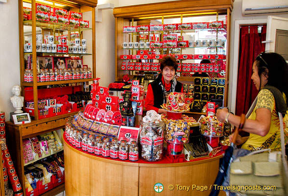 Me, buying the famous Student Kiss chocolates