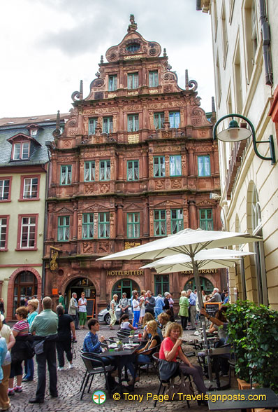 The Renaissance architecture of Hotel Zum Ritter St Georg at Hauptstrasse 178