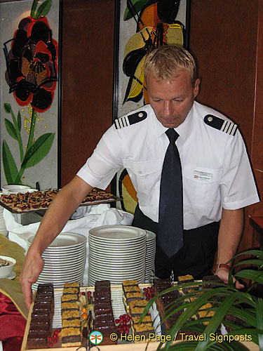 Helmut making sure that the deserts are tempting