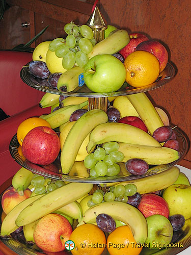 For the health conscious, there's plenty of fruit