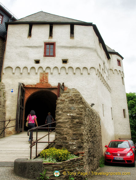 Drawbridge Gate is one of four gates you have to pass to get into Marksburg castle