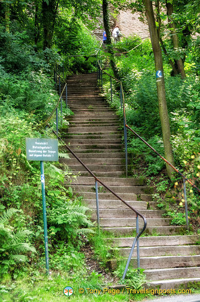 Steps up to Marksburg