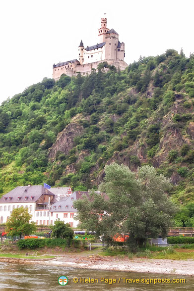 Marksburg Castle, as seen from a Rhine River Cruise