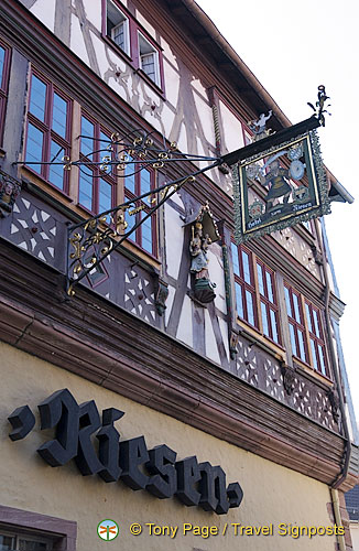 Hotel Zum Riesen, erected in 1590, is one of the oldest guest houses in Germany.