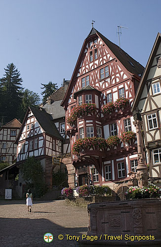 The finest traditional half-timbered houses can be seen here