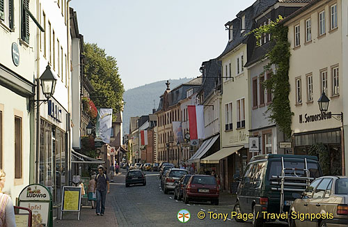One of the main streets of Miltenberg