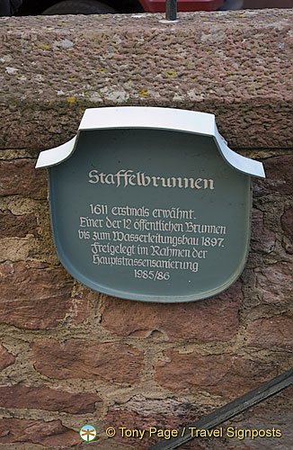 Staffelbrunnen is one of the relay wells built in 1611