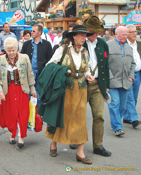 Locals in their Oktoberfest finest