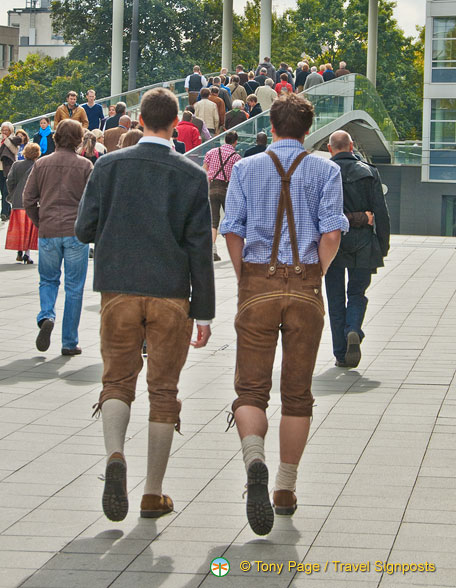 Going to Oktoberfest.  Just follow the lederhosen