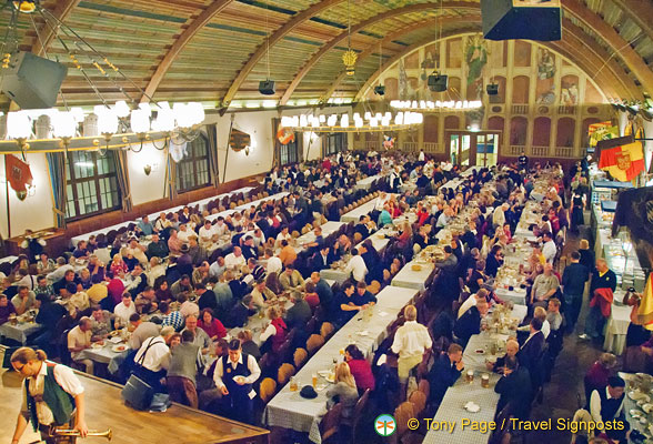Hofbrauhaus' Festival Hall is the main restaurant