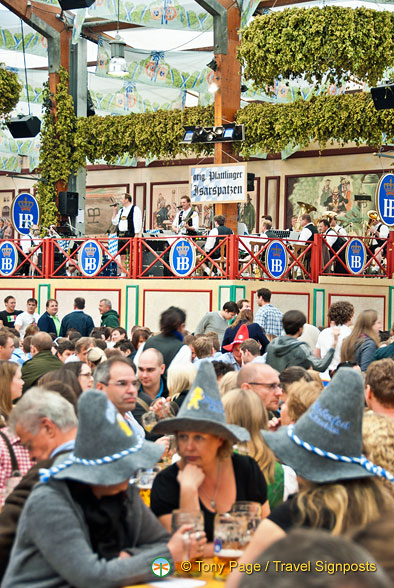 Hofbrauhaus tent - love the hats