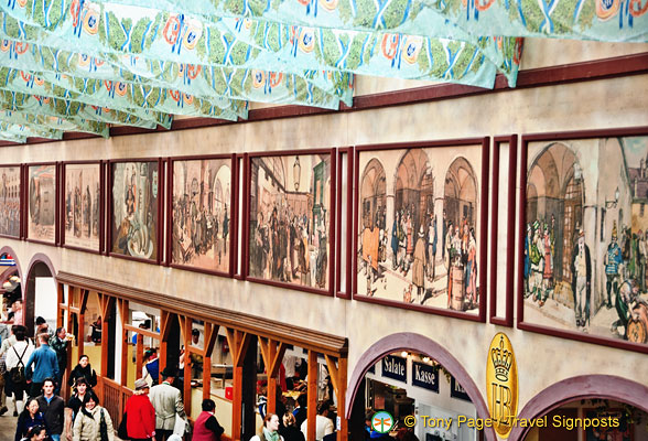 Hofbrau wall paintings