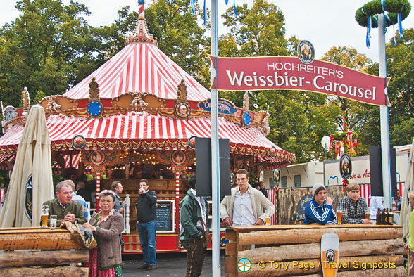 Enjoy a beer at the Weissbier- Carousel