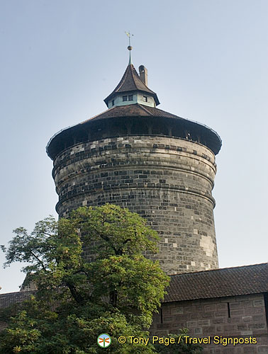 Imposing tower of the old city wall