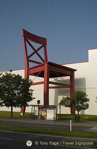 The giant chair - a symbol of Nuremberg's manufacturing industries