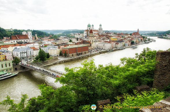 View of the Danube and Passau