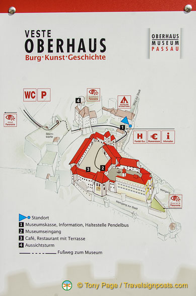 Map of the Veste Oberhaus complex