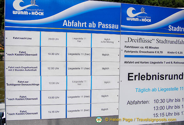 Information about Danube cruises from Passau