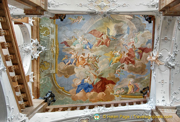 Ceiling fresco of Neue Residenz by Johann Georg Unruhe