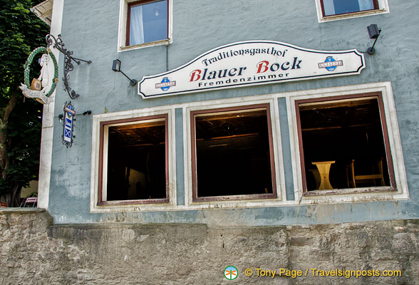 Gasthof Blauer Bock, a local hotel destroyed by the Danube flooding