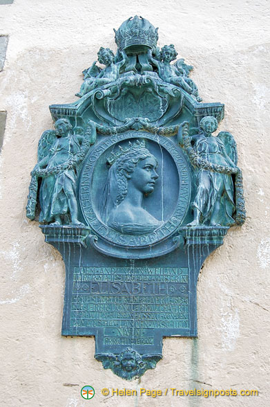 A plaque of Elisabeth of Austria, commonly known as Sisi