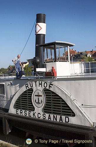 Ruthof Érsekcsanád - a steam tugboat which is a main exhibit of the Regensburg Schiffahrtsmuseum