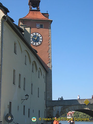 View of the Salzstadel and bridge tower