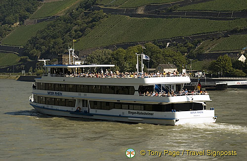 Bingen to Rudesheim river cruises