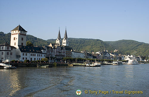 Prince Elector's Castle on the left, Boppard