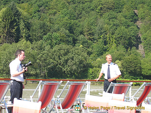Our cruise photographer with Helmut the hotel manager [Rhine Castles - Rhine River Cruise - Germany]