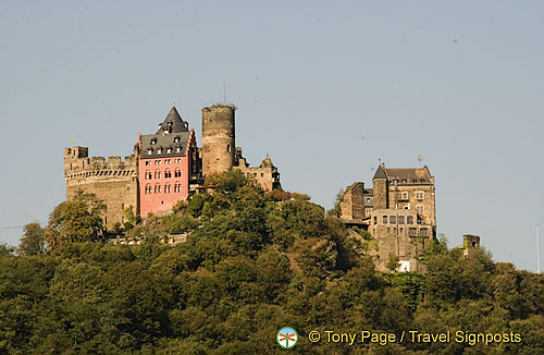 Schonburg Castle -  above the medieval town of Oberwesel