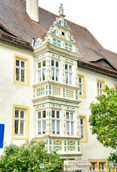 One of the many attractive buildings in Rothenburg