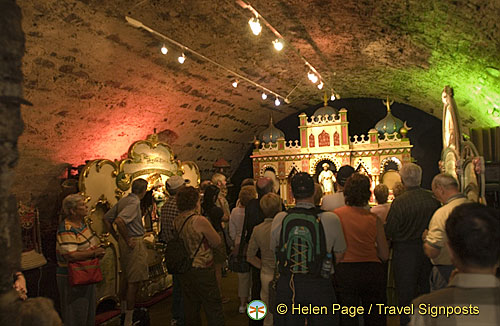 Fairground organs in the castle's wine cellar