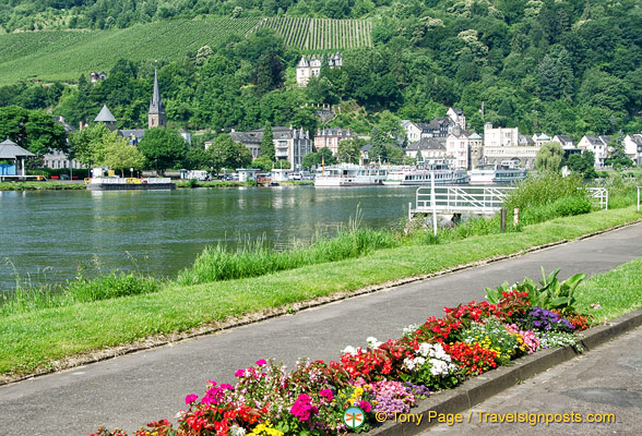 Moselle river view from Traben-Trarbach