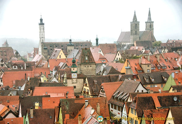 View of Rothenburg skyline from the Roderturm