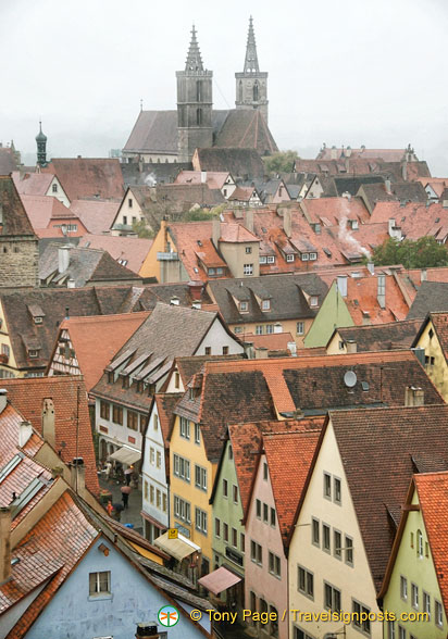 View of Rothenburg from Roderturm