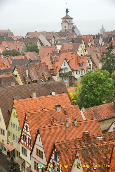 Aerial view of Rothenburg