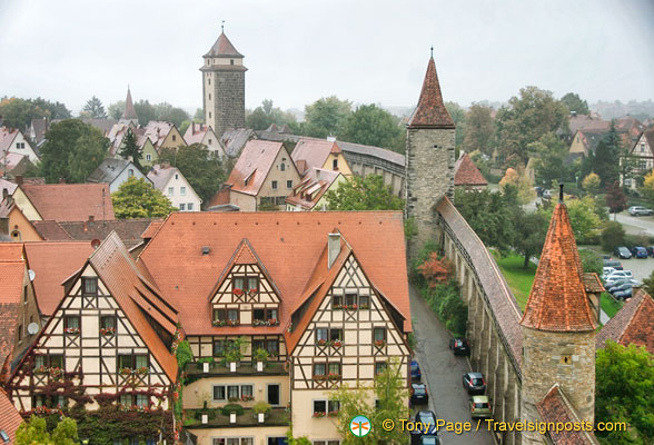 Rothenburg wall views