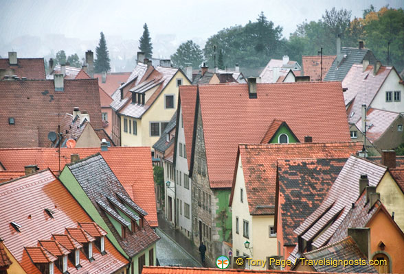 Rothenburg view from the Roderturm